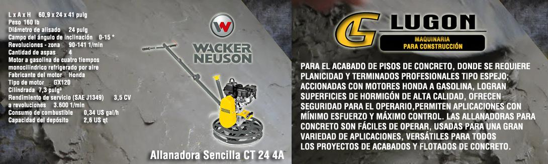 Allanadora Sencilla CT 24 4A