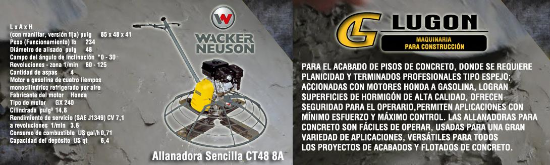 Allanadora Sencilla CT48 8A