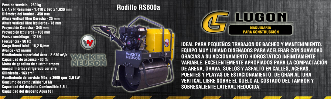 rodillo compactación saltillo rs600a