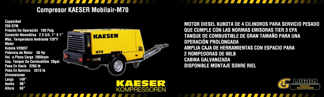COMPRESOR KAESER M70 FICHA
