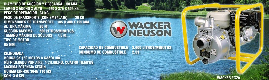 Motobomba Wacker PG2A