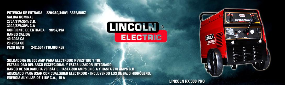 Soldadora Lincoln RX 330 PRO